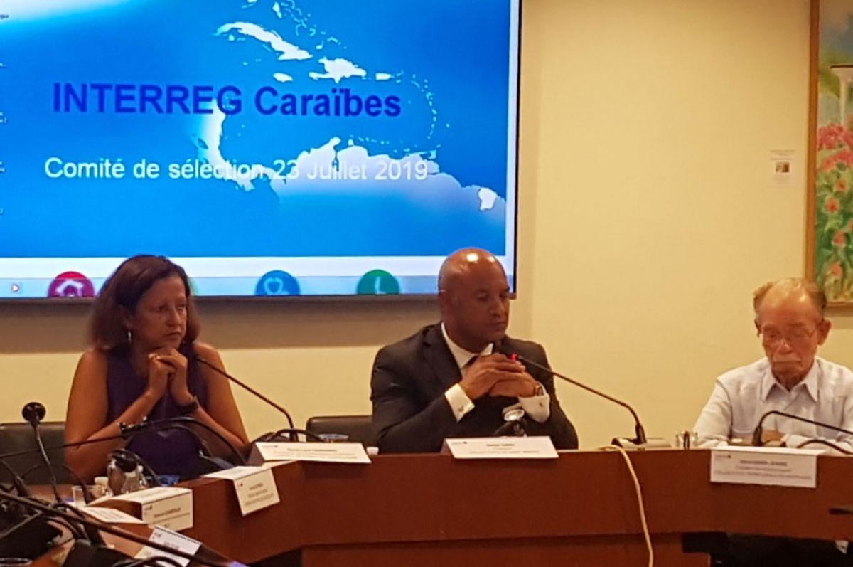 La vice-présidente de la région Guadeloupe, Marie-Luce Penchard et le président Daniel Gibbs
