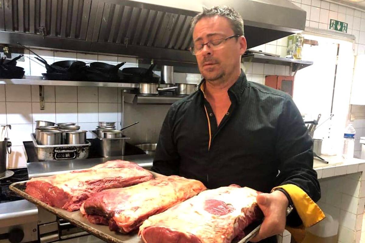 La viande locale cuisinée  par les restaurateurs