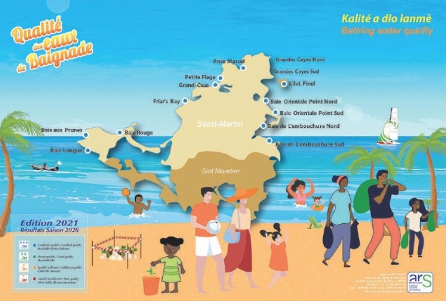Eaux de baignage : qualité excellente à Saint-Martin