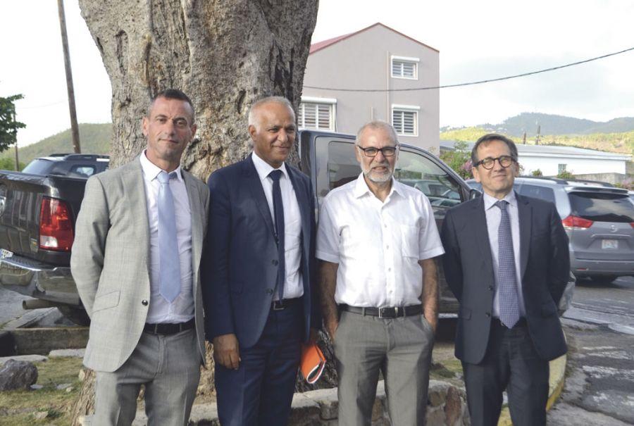 De gauche à droite : Christian Climent-Pons, Mostafa Fourar, Jean-Michel Alfandari et Michel Sanz