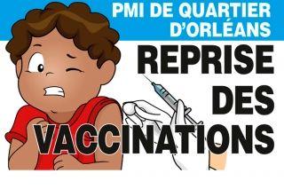 PMI de Quartier d'Orléans : reprise des vaccinations