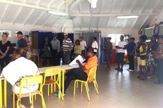 Premier tour de l'élection territoriale: 35.24% de votants à 16 heures