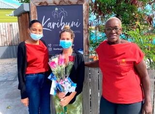 Une distribution de roses organisée par l'Office de tourisme à l'occasion de la Saint-Valentin !