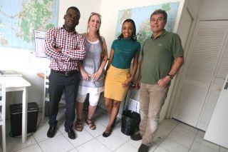 De gauche à droite, docteur Huidi Tchero, Véronique Fernandes et Béatrice Becsangèle infirmières  et le docteur Philippe Gervais.