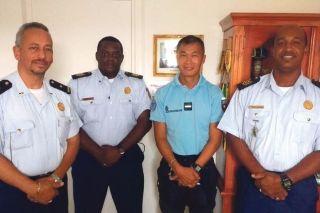 Coopération policière: La police de Sint-Maarten en visite à La Savane