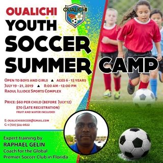 Oualichi Youth Soccer Summer Camp