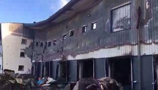 L'entrepôt Frigodom détruit par un  incendie