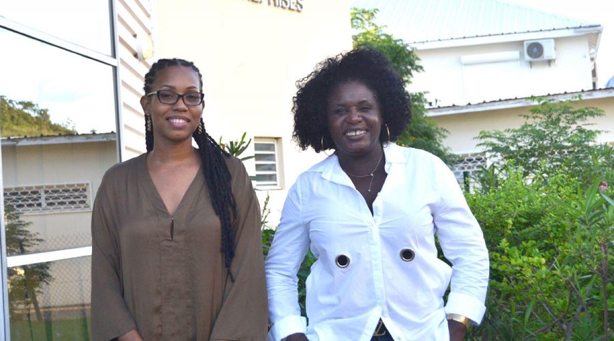 Malaïka Maxwell et la Présidente Angèle Dormoy.