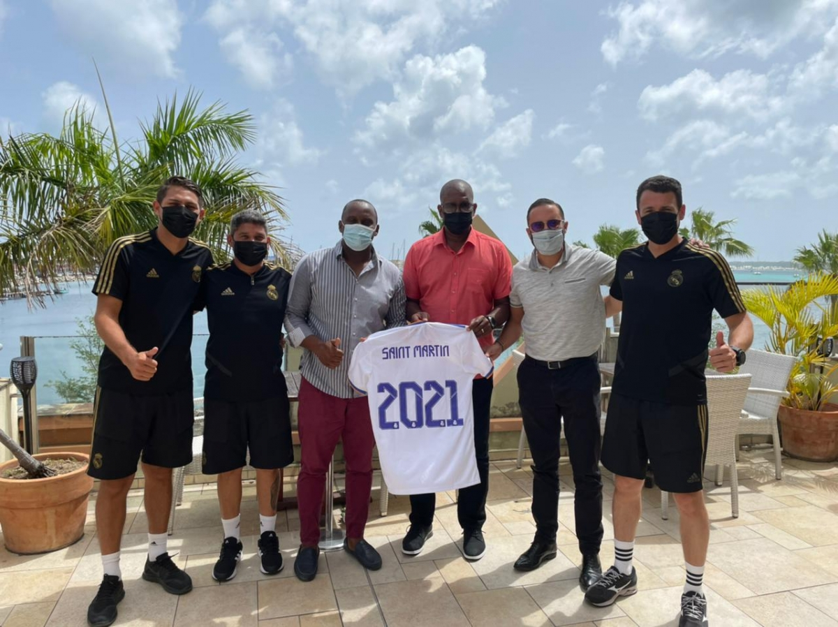 Arrivée de la délégation de la fondation du Real Madrid à Saint Martin