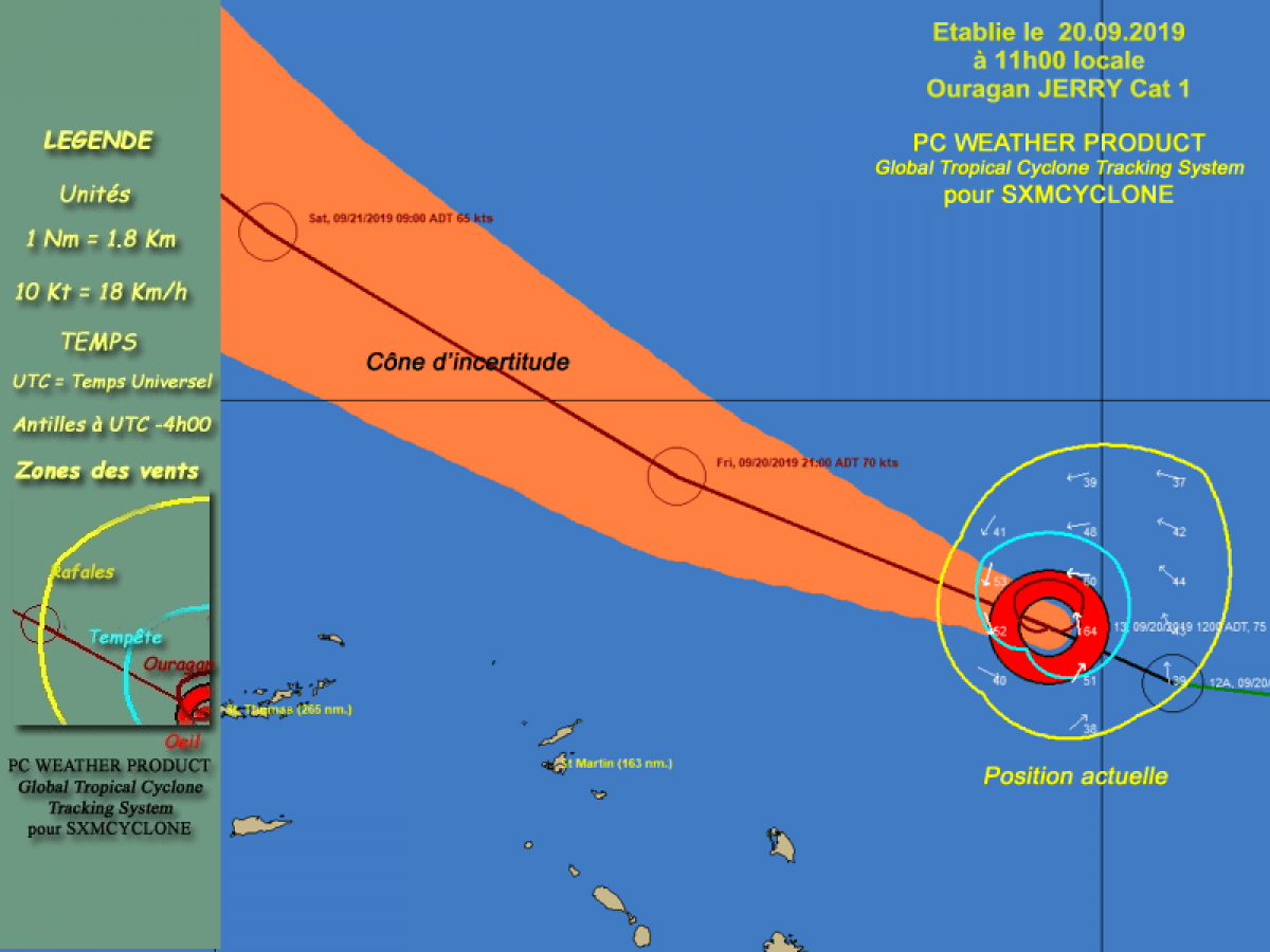 Ouragan Jerry : Communiqué de la préfecture du vendredi 20 septembre