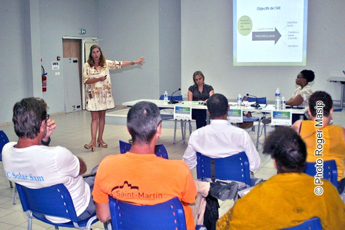 Réunion sur la création d'emplois durables  à Saint-Martin