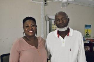 Marjorie Antoine, directrice, et Georges Richardson, président de l'association Sandy Ground on The Move.