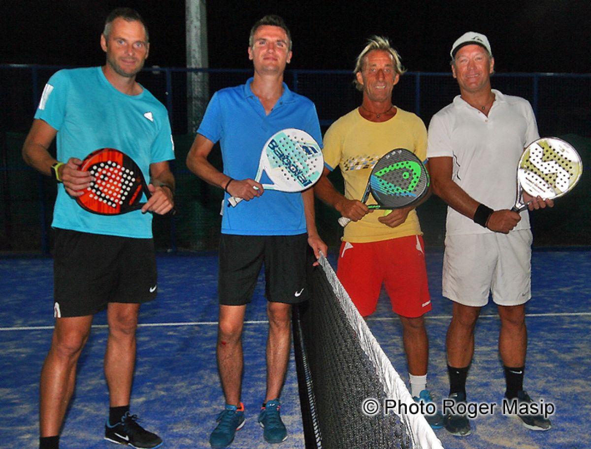 A gauche, la paire Stroebner/Mosset à côté des vainqueurs du tournoi, Alonzo et Murieta