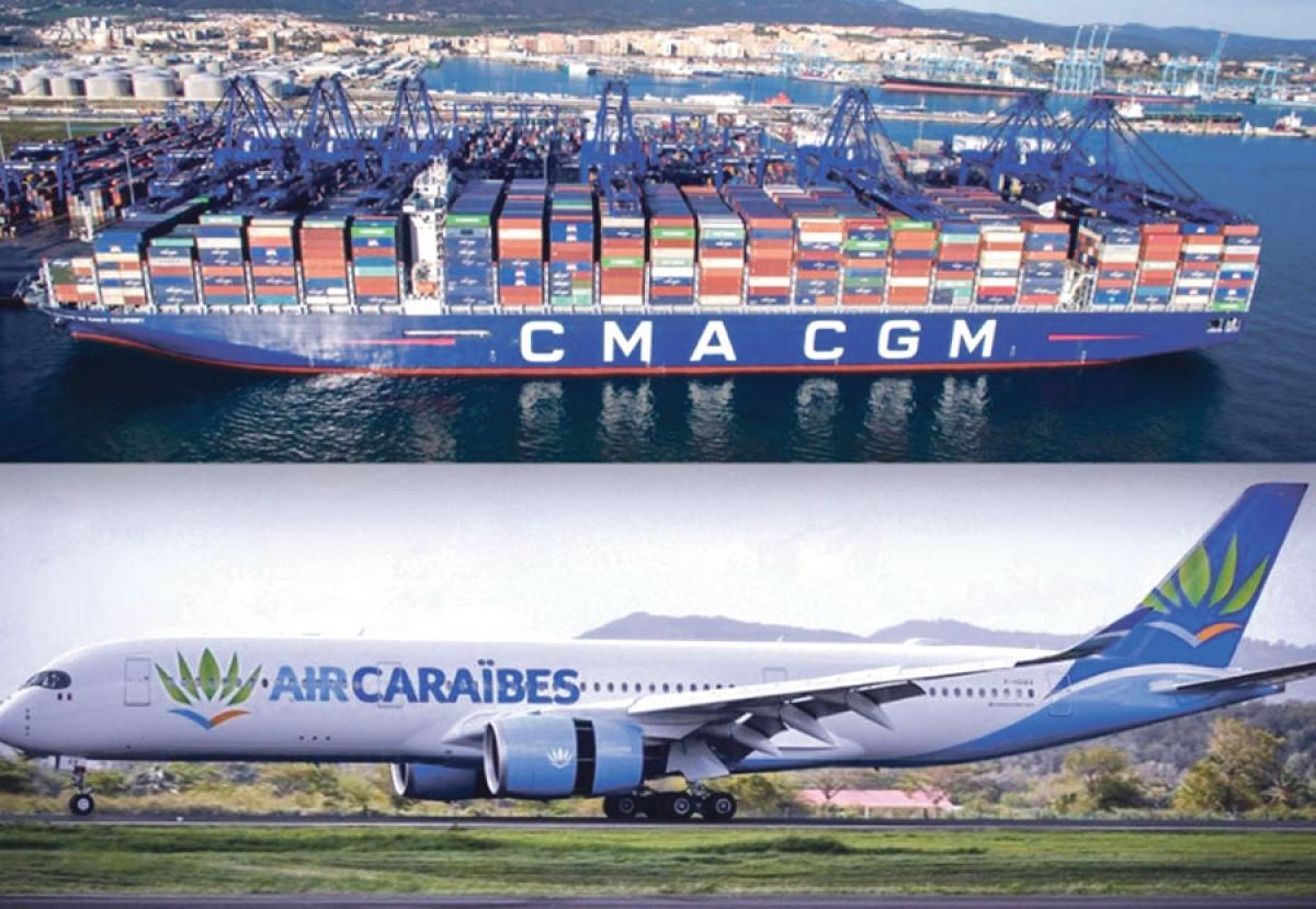 CMA CGM, la célèbre compagnie d'affrètement maritime, entre  dans le capital d'Air-Caraïbes