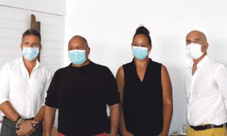Les initiateurs du projet : Olivier Fatou (juriste), René Maarek (médecin addictologue), Mélanie Hodge (psychologue), Frédéric Olivo (médecin généraliste).