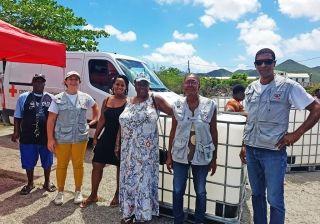 Croix Rouge : 250 cuves à récupération d'eau de pluie distribuées dans les quartiers