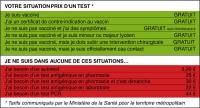 Covid-19 : Tests payants à compter de mardi prochain