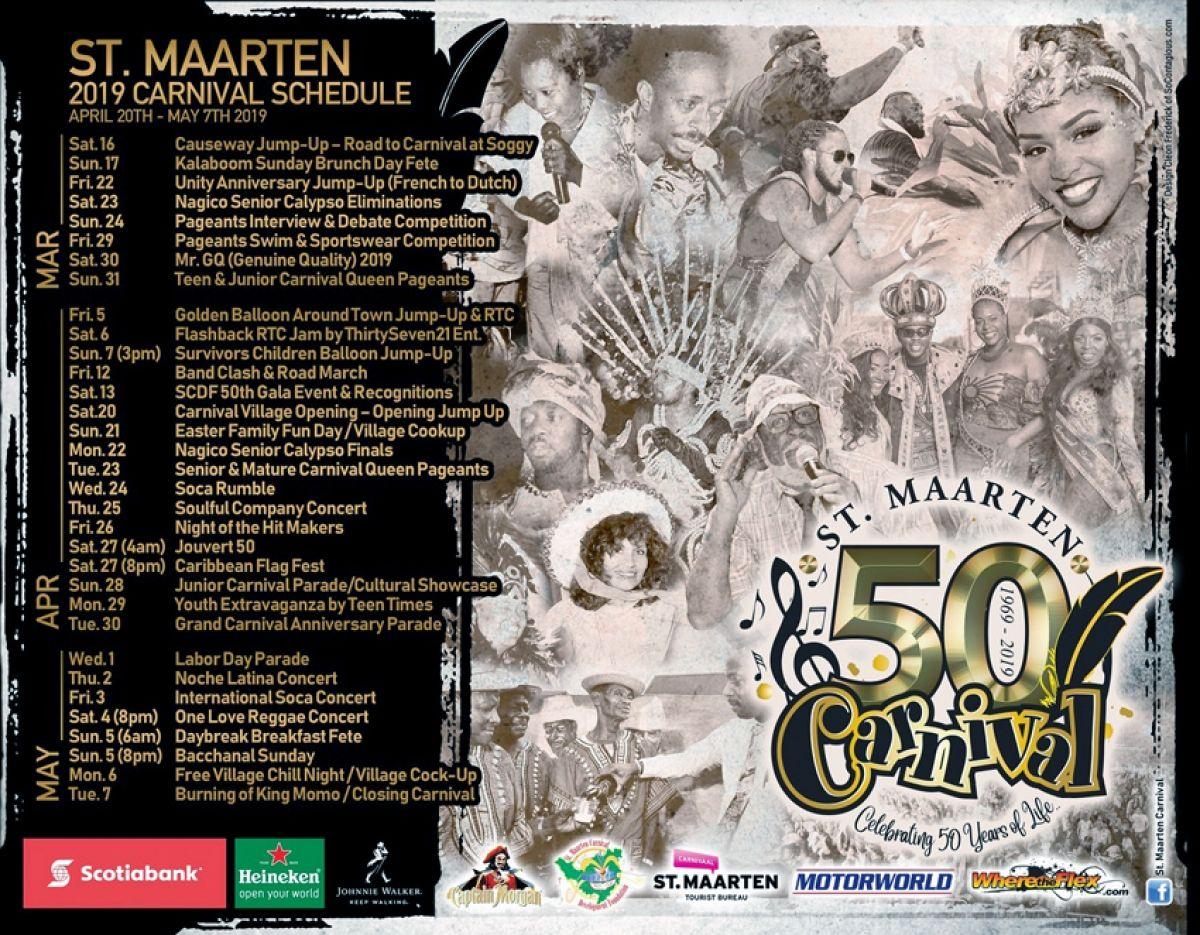 Début du 50e carnaval de Sint Maarten
