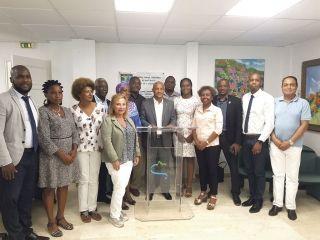 Le président Gibbs et une partie des élus de la majorité faisaient un point de la situation, exactement 2 ans après le passage dévastateur de l'ouragan Irma.