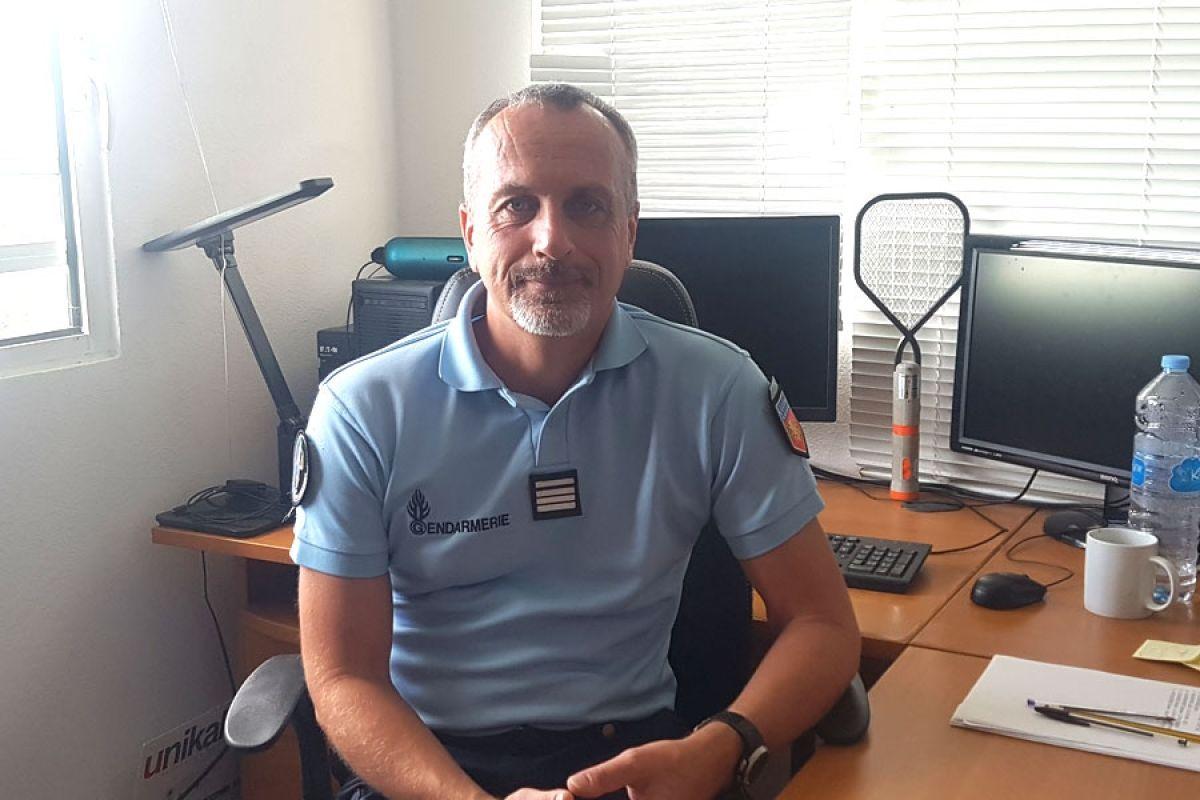 Gendarmerie : prise de fonction du Commandant de gendarmerie, Stephan Basso