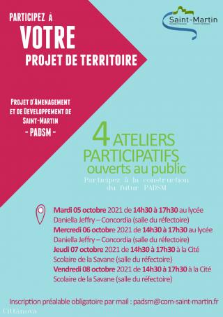 PADSM : Des ateliers publics programmés cette semaine
