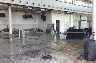 Une photo de l'intérieur de l'aérogare prise le 13 janvier dernier