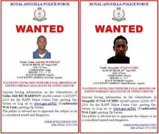 Anguilla : la police recherche activement deux individus