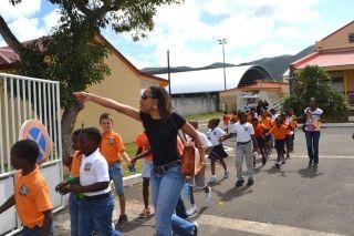 Dans le cadre de l'exercice Richter, mardi matin, l'école Nina Duverlya  été évacuée. Les enfants et l'ensemble du personnel ont été acheminés  par quatre policiers territoriaux vers un abri situé à Concordia.