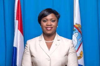Leona Marlin Romeo, actuelle 1ère ministre du gouvernement de Sint Maarten