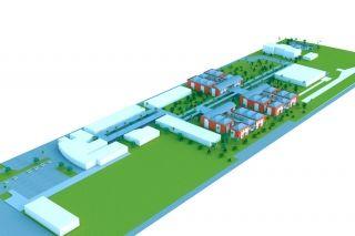 Cette image en 3D n'est pas contractuelle. C'est une vue qui reprend l'ensemble des éléments et des espaces qui doivent figurer dans le projet final. Les plans définitifs seront ceux réalisés par les architectes qui remporteront le concours lancé.