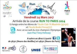 Course : Run To Paris, arrivée le vendredi 24 mars